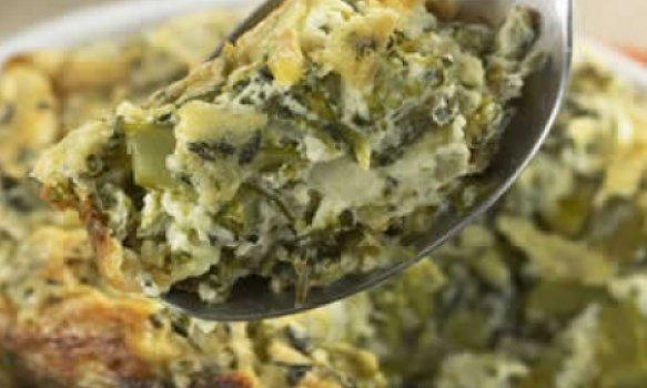 Suflê de brócolis