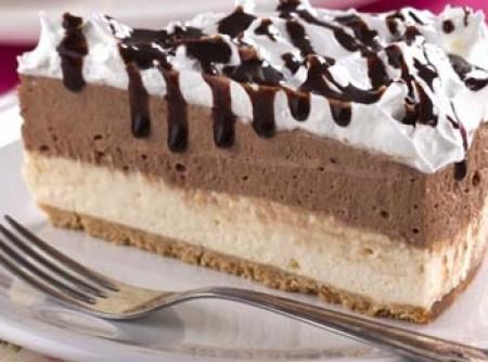Cheesecake Bicolor com Marshmallow