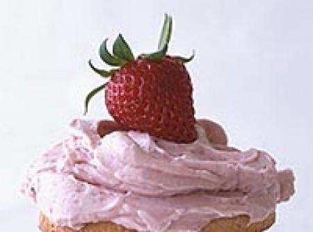Cupcake com Creme de Morango