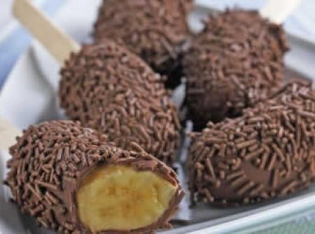Banana com chocolate | CyberCook