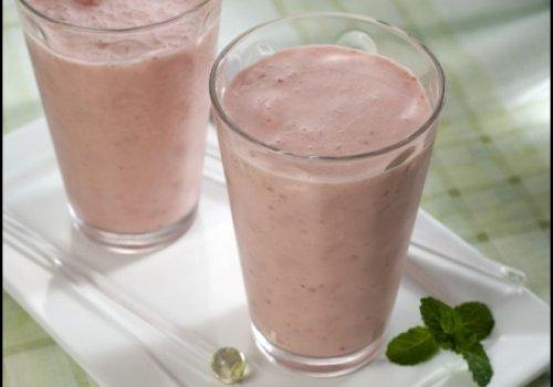 Frozen iogurte de morango