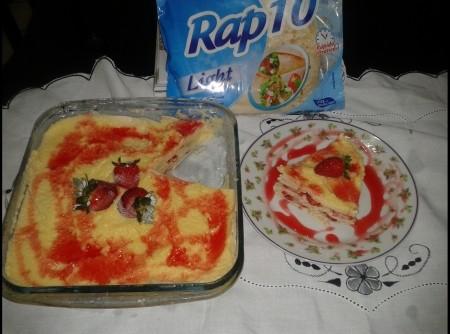 Rap10 de morango no creme ligth da Rosane