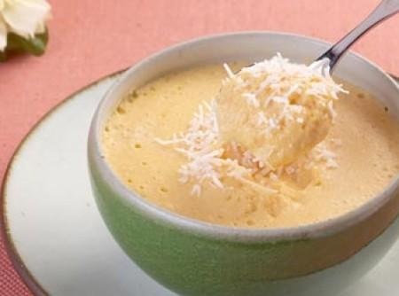 Mousse de abóbora com coco