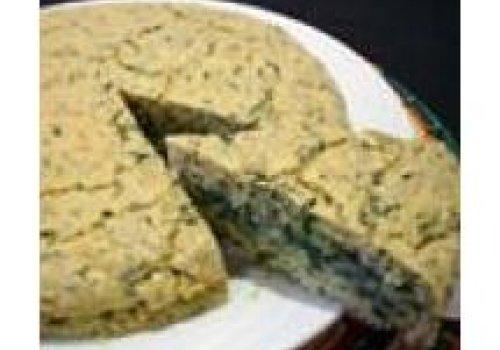 Torta de espinafre e aveia