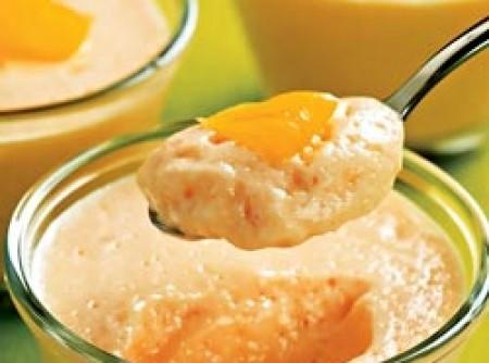 Mousse de acerola com laranja