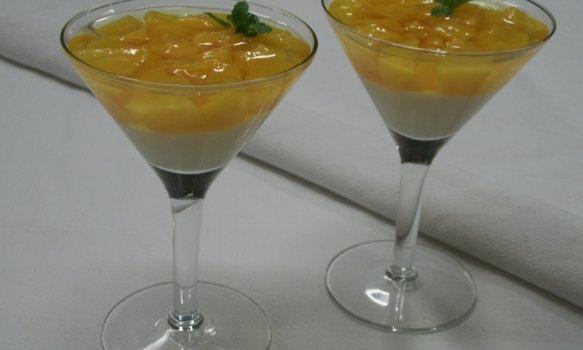 Sobremesa de Pêssego com Gelatina