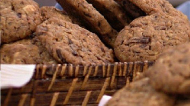 Cookie de Chocolate Meio Amargo e Branco