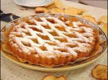 Torta de Maçã com Uva Passa