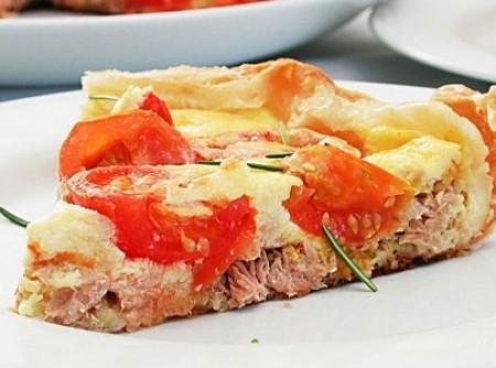 Torta de atum com tomate | Rosemari A. do Carmo