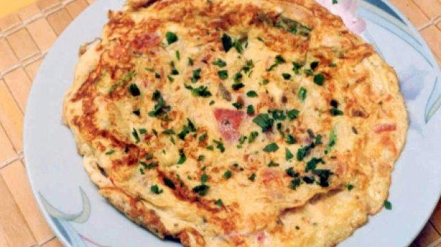 Omelete de Peito de Peru com Ricota