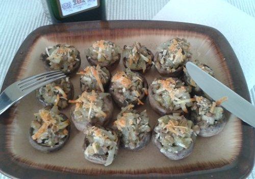 Cogumelos Recheados ao Forno