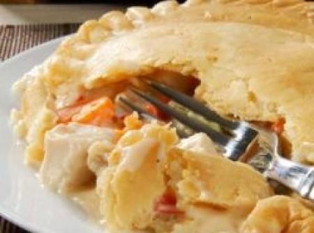 Torta de frango e abobrinha