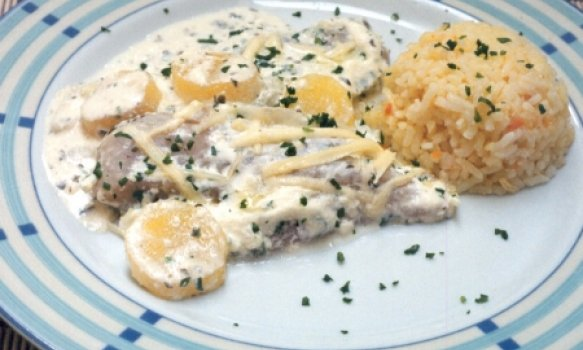 Peixe de Forno com Creme e Batata