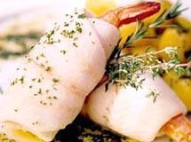 Linguado cozido recheado com Cogumelos Frescos