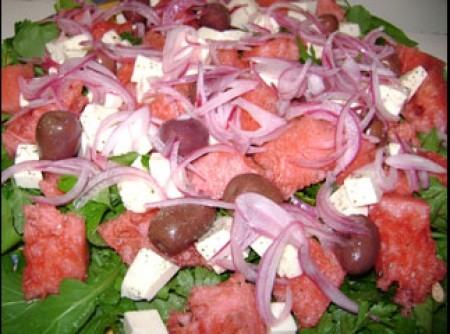 salada fresca de melancia