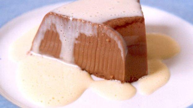 Flan de Chocolate com Creme Inglês