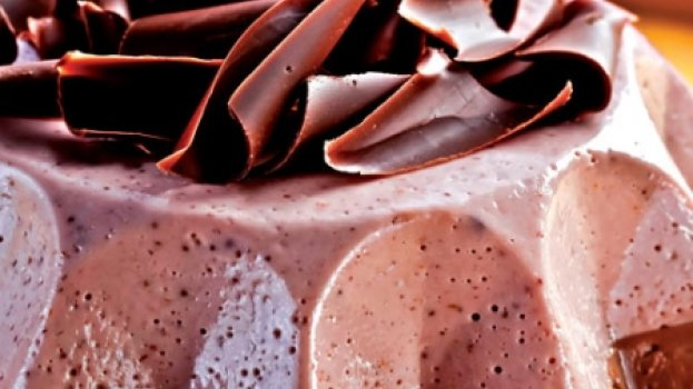 Pudim de Chocolate e de Morango