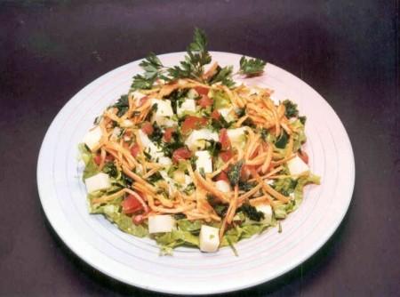 Salada de Alface com Queijo | CyberCook