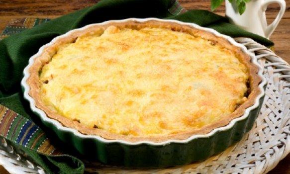 Torta Rústica de Tomate e Manjericão
