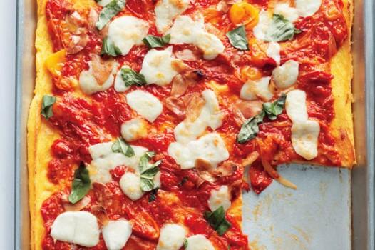 Pizza Caprese de Polenta   epicurious