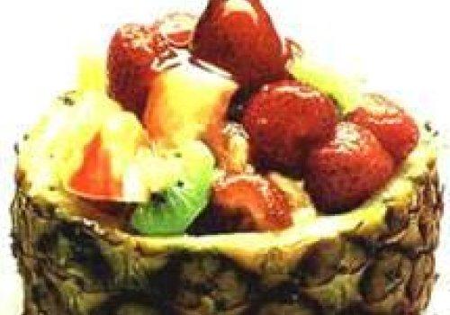 Salada de pêra com abacaxi