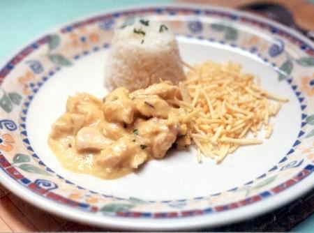 Frango ao Creme de Milho e Curry   CyberCook