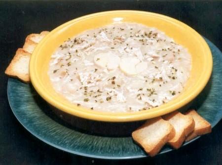 Sopa de Palmito e Frango