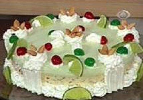 Torta Cremosa de Limão Com Amêndoas