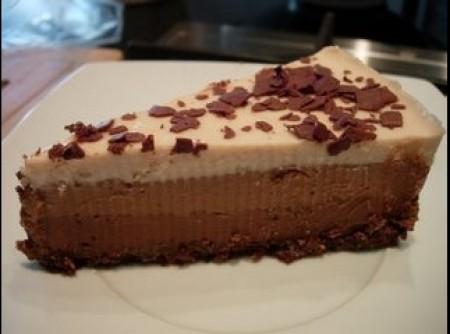 Tarte de três chocolates da Silvaninha