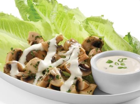Salada de alface com champignon