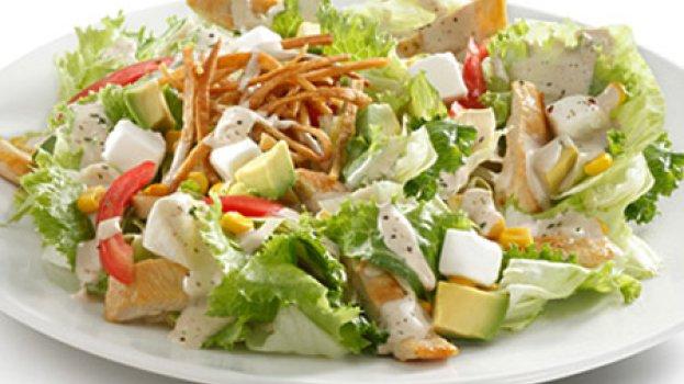Salada Tex-Mex com frango