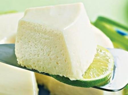 Mousse de erva-cidreira e limão