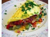 Omelete com jardineira de legumes