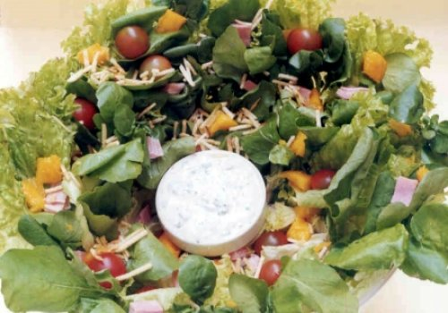 Salada de Presunto com Manga