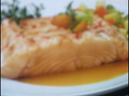 Bacalhau com molho de laranja