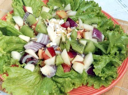 Salada de Alface com Cebola roxa