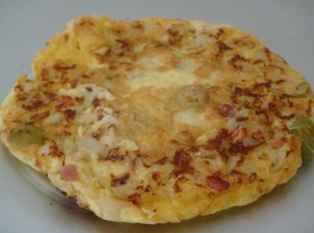 Omelete de Talos de Couve-flor