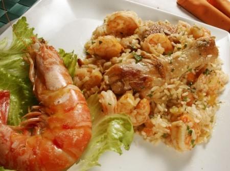 Cozido de Frango com Camarões