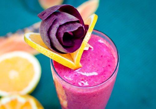 Vitamina energética com fibras