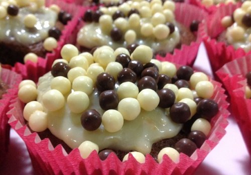 Cupcakes de Cenoura com Amêndoas e Especiarias