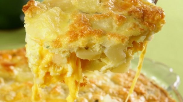 Fritada de Forno de Batata e Queijo