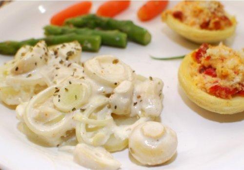 Salada ao Creme de Champignon (vegan)