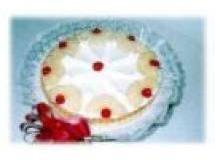Torta Nevada de Abacaxi e Pêssego