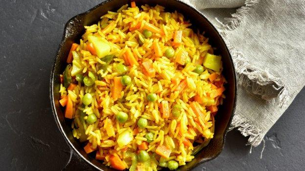 Arroz de forno com seleta de legumes/CyberCook