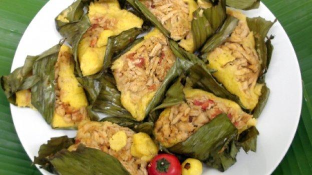 Tamales en Hojas de Plátano