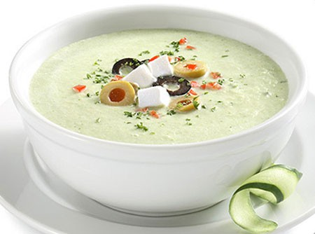 Sopa Fria de Pepino Philadelphia Light
