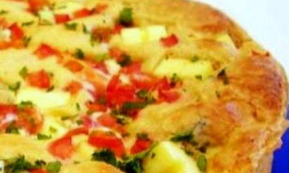 Torta de Mandioca com Linguiça