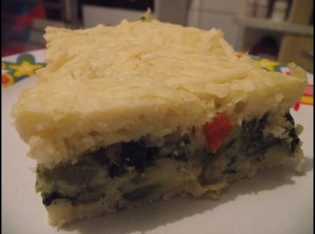Torta de Brócolis com Cenoura