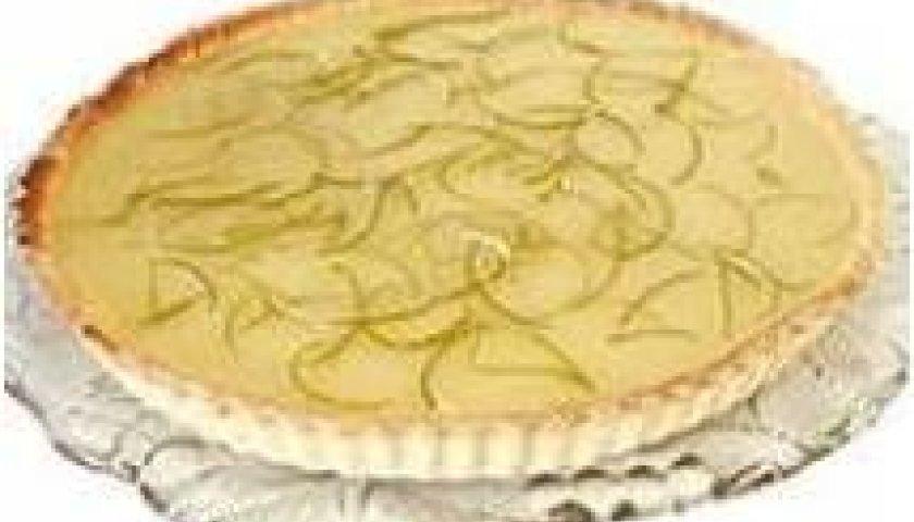 Torta de Chocolate Branco e Limão