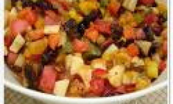 Salada de fruta assada